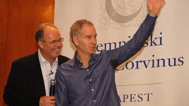 Taróczy Balázs és John McEnroe a 2008-as Tennis Classics sajtótájékoztatóján - MTI Fotó: Illyés Tibor