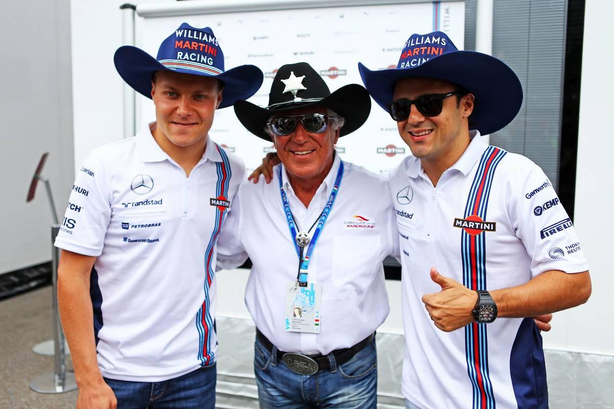 Valtteri Bottas és Felipe Massa Mario Andrettivel (Fotó: Batchelor / XPB Images)