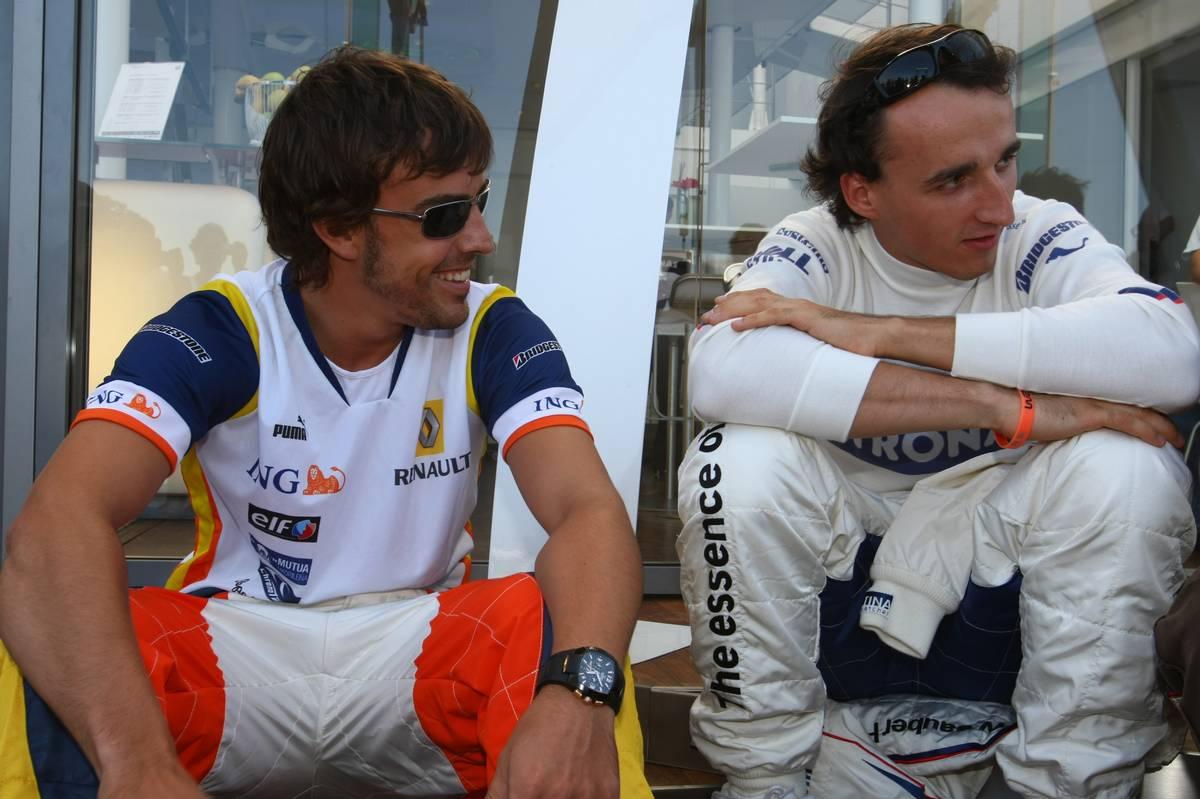 Fernando Alonso (Renault) és Robert Kubica (BMW) 2008-ban (Fotó: Batchelor / xpb.cc)