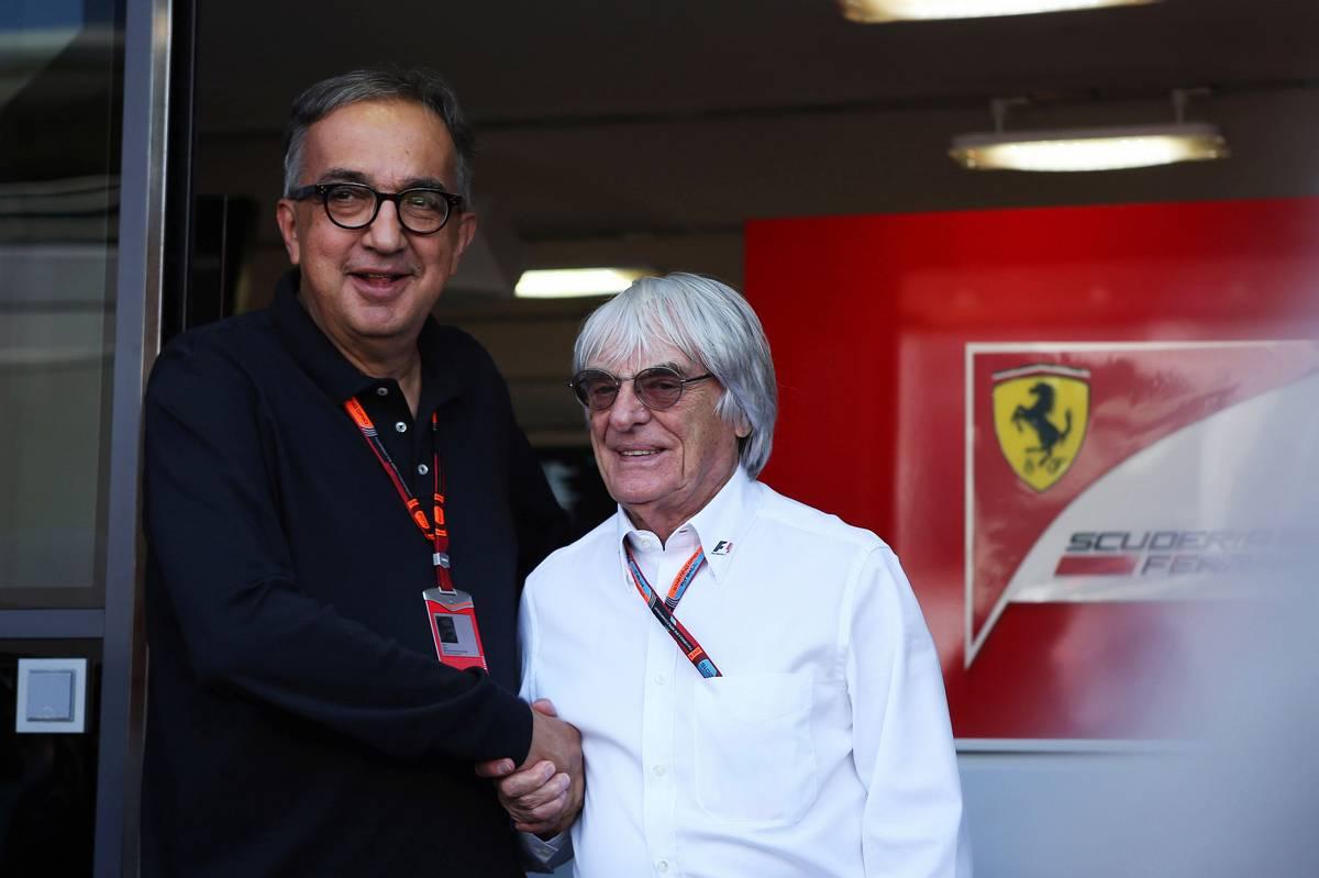 Sergio Marchionne és Bernie Ecclestone (Fotó: Photo4 / XPB Images)