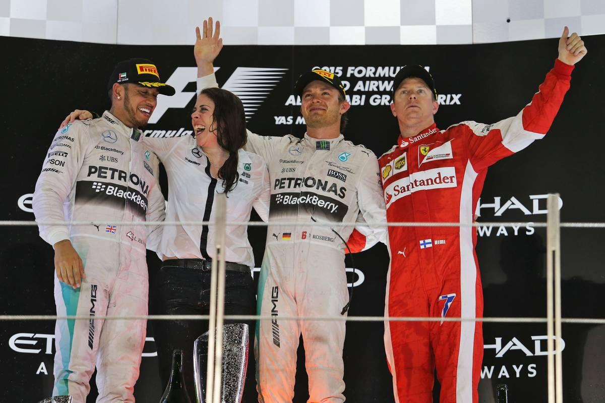 Lewis Hamilton, Nico Rosberg, Kimi Räikkönen (Fotó: Moy / XPB Images)