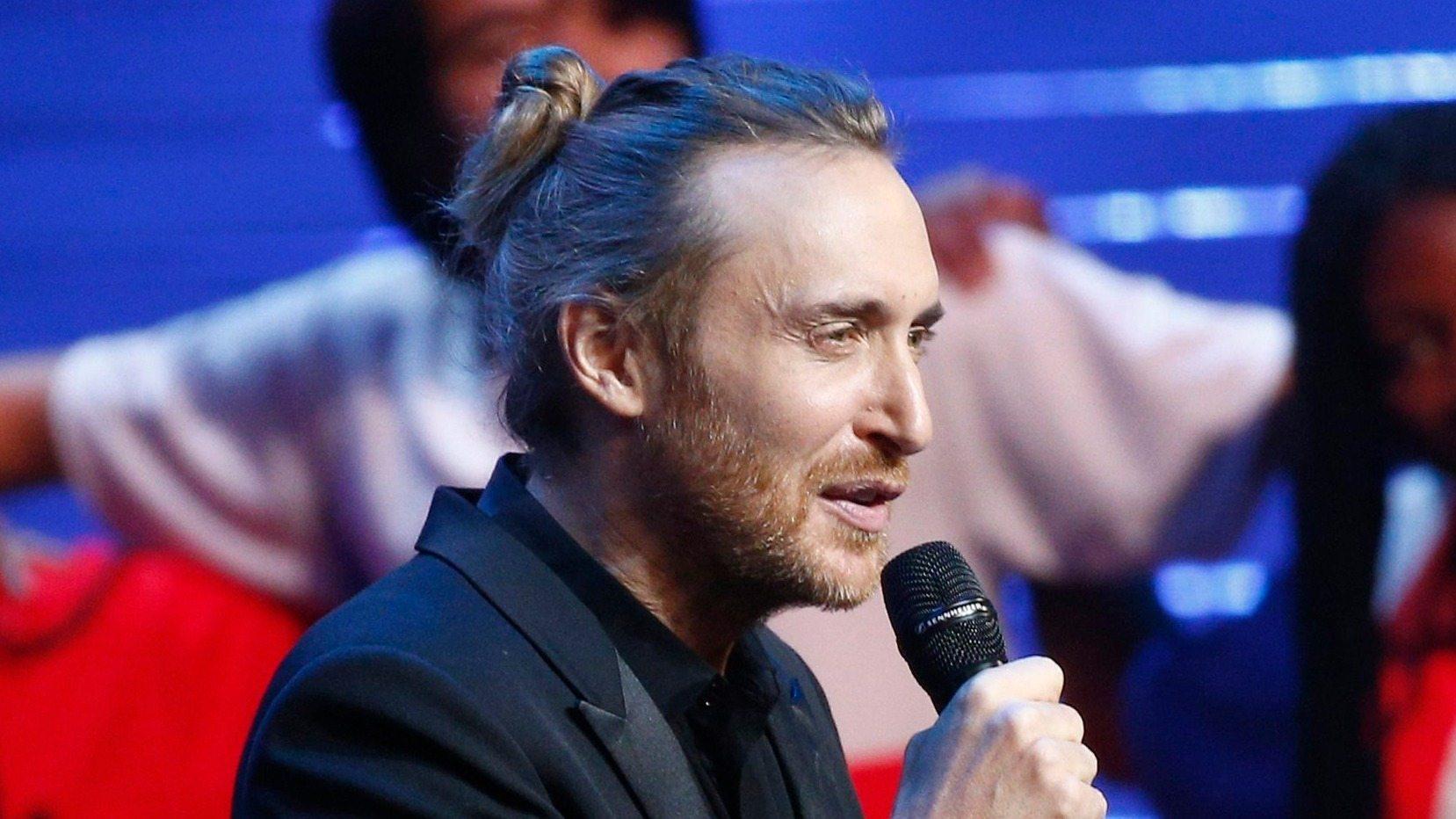 David Guetta a 2016-os Eb csoportsorsolásán - fotó: EPA/Yoan Valat