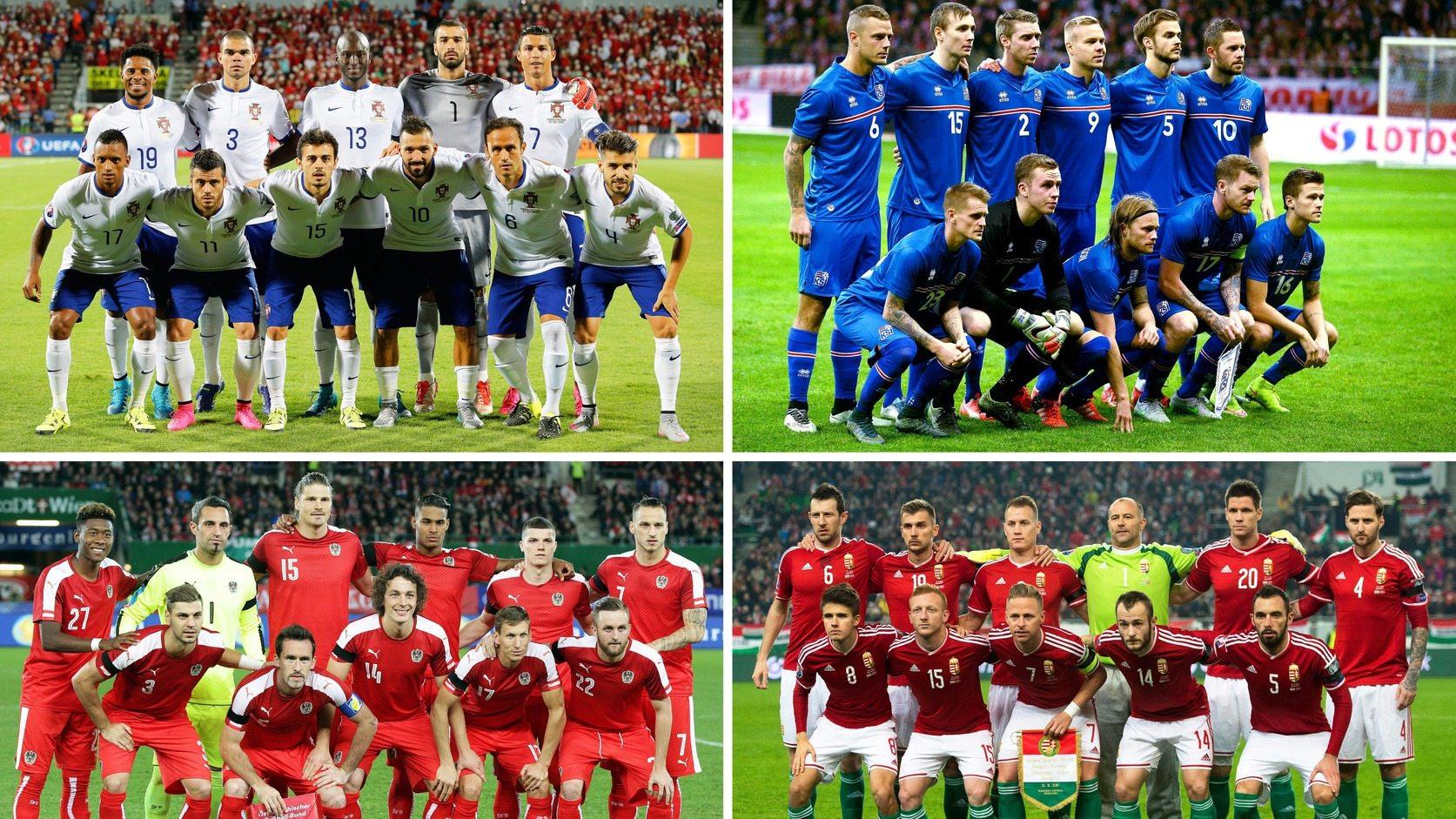 A 2016-os Európa-bajnokság F csoportjának résztvevői  Ausztria db9f21c938