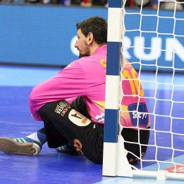 Németország-Spanyolország férfi kézilabda Eb-döntő - Sterbik Árpád - fotó: MTI/EPA/Jacek Bednarczyk
