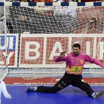 Németország-Spanyolország férfi kézilabda Eb-döntő - Sterbik Árpád - fotó: MTI/AP/Alik Keplicz