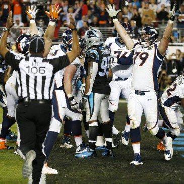 A Denver Broncos 24-10-re legyőzte a Carolina Panthers együttesét az észak-amerikai profi amerikaifutball-liga (NFL) idei nagydöntőjében, az 50. Super Bowlban. San Francisco, 2016. február 7. EPA/TANNEN MAURY