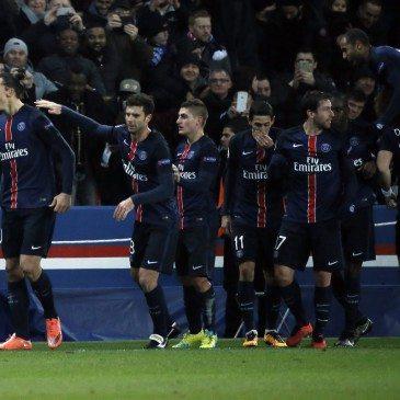 PSG-Chelsea - Zlatan Ibrahimovic gólöröme - fotó: MTI/EPA/Etienne Laurent