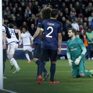PSG-Chelsea - Kevin Trapp - fotó: MTI/EPA/Etienne Laurent