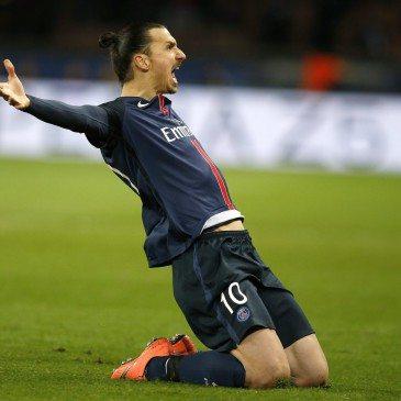 PSG-Chelsea - Zlatan Ibrahimovic gólöröme - fotó: EPA/Yoan Valat