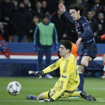 PSG-Chelsea BL-nyolcaddöntő - Edinson Cavani gólja - fotó: EPA/Etienne Laurent