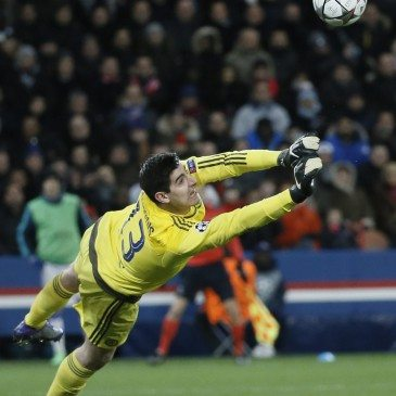 PSG-Chelsea BL-nyolcaddöntő - Thibaut Courtois - fotó: EPA/Etienne Laurent