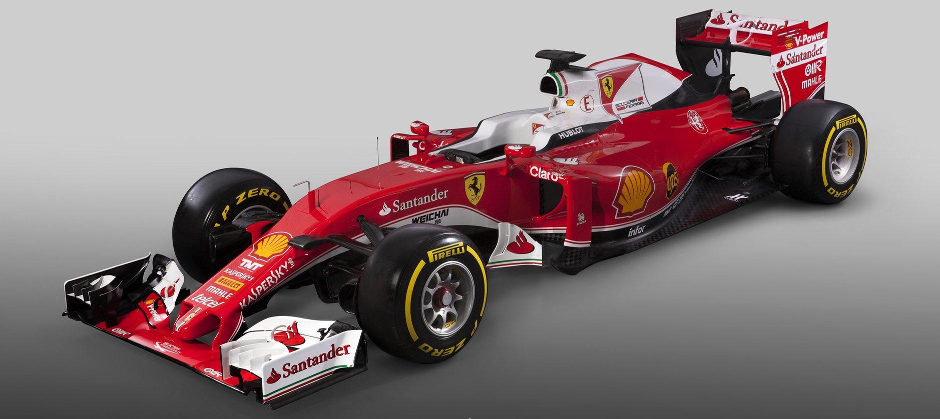tt az új Ferrari, az SF16-H (Fotó: Ferrari)