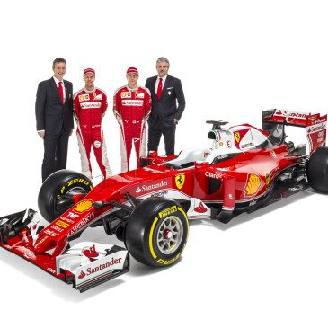 James Allison, Sebastian Vettel, Kimi Räikkönen, Maurizio Arrivabene (Fotó: Ferrari)