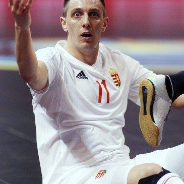 Magyarország-Spanyolország csoportmeccs a futsal Eb-n - Dróth Zoltán - fotó: MTI/EPA/Koca Sulejmanovic
