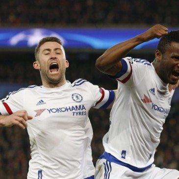 PSG-Chelsea - John Obi Mikel és Gary Cahill - fotó: MTI/AP/Francois Mori