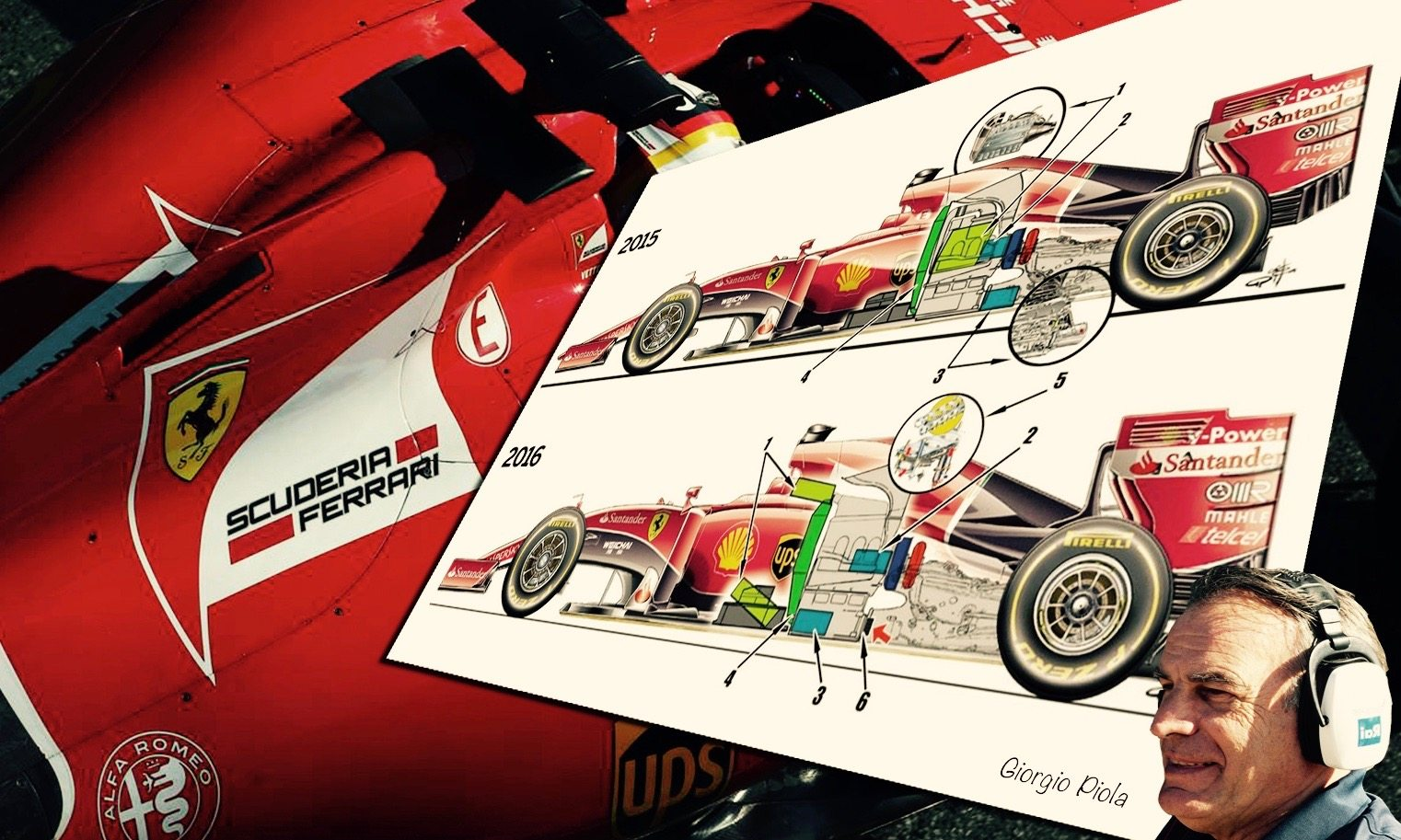 Giorgio Piola rajzai alapján elemezzük a Ferrari változtatásait