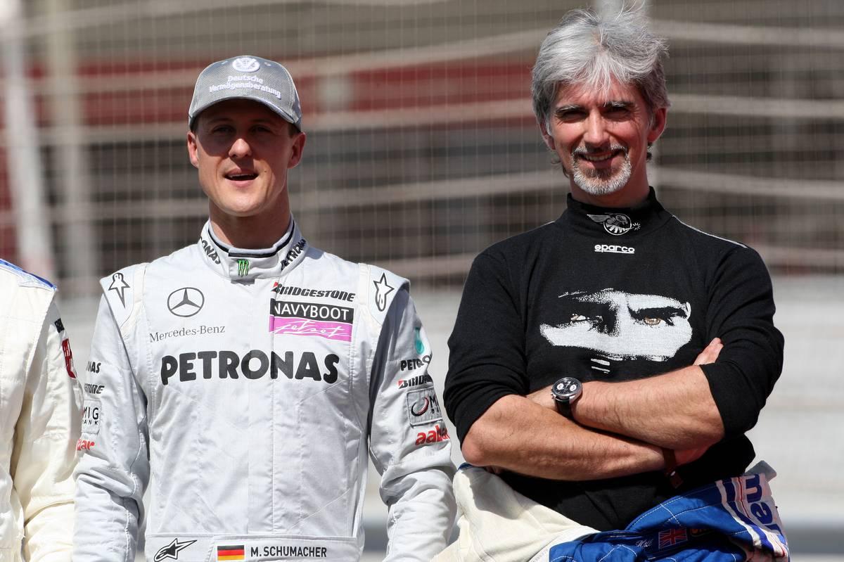 Michael Schumacher és Damon Hill a 2010-es Bahreini Nagydíj előtt (Fotó: xpbimages.com)