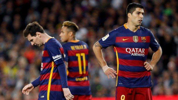 Lionel Messi, Neymar és Luis Suarez - fotó: EPA/Quique Garcia