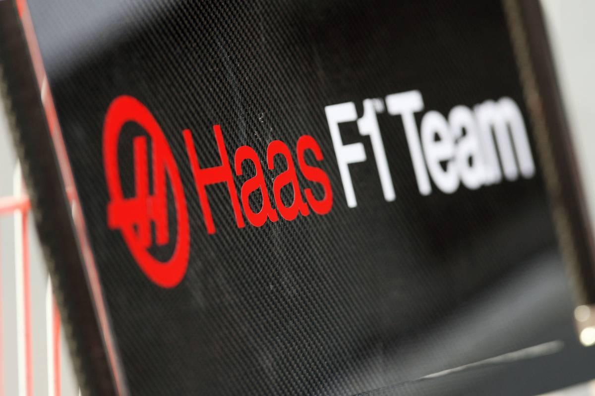 Haas logó (Fotó: Rierola / XPB Images)