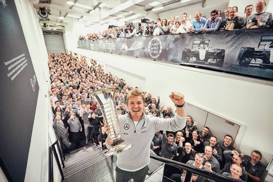 Nico Rosberg a Mercedes főhadiszállásán (Fotó: Mercedes)