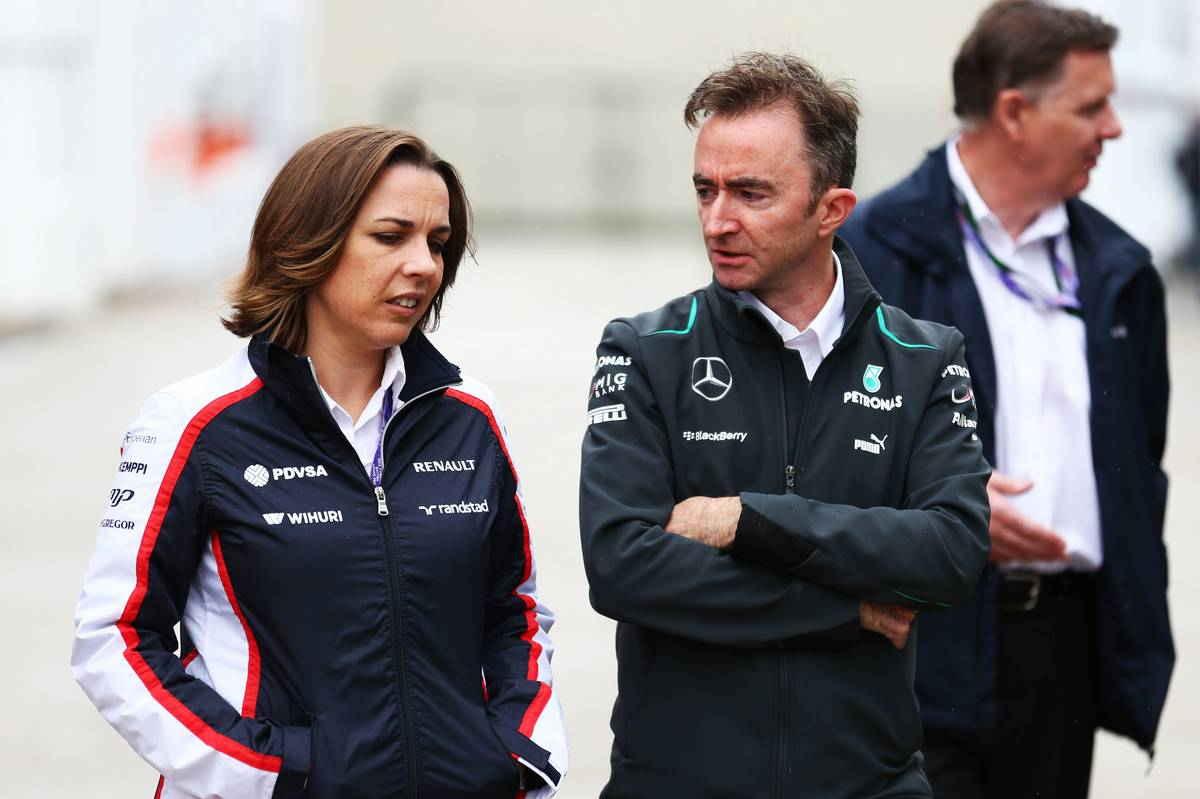 Claire Williams és Paddy Lowe (Fotó: xpbimages.com)