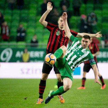 Ferencváros-Honvéd Magyar Kupa-nyolcaddöntő - Böde Dániel és Djordje Kamber - MTI Fotó: Koszticsák Szilárd