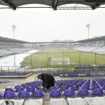 A felújított, újpesti Szusza Ferenc Stadion 2017. február 16-án. MTI Fotó: Illyés Tibor
