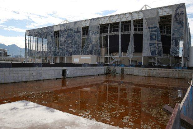 A riói olimpia úszóversenyeinek helyszíne 2017. február 9-én (fotó: Reuters)
