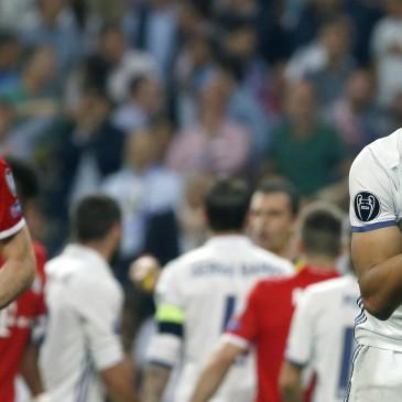 Ezúttal is jó meccset, nagy izgalmakat hozott a Real Madrid - Bayern München összecsapás (Fotó:EPA/KIKO HUESCA)
