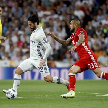 Ezúttal is jó meccset, nagy izgalmakat hozott a Real Madrid - Bayern München összecsapás (Fotó: MTI/EPA/Juanjo Martin)
