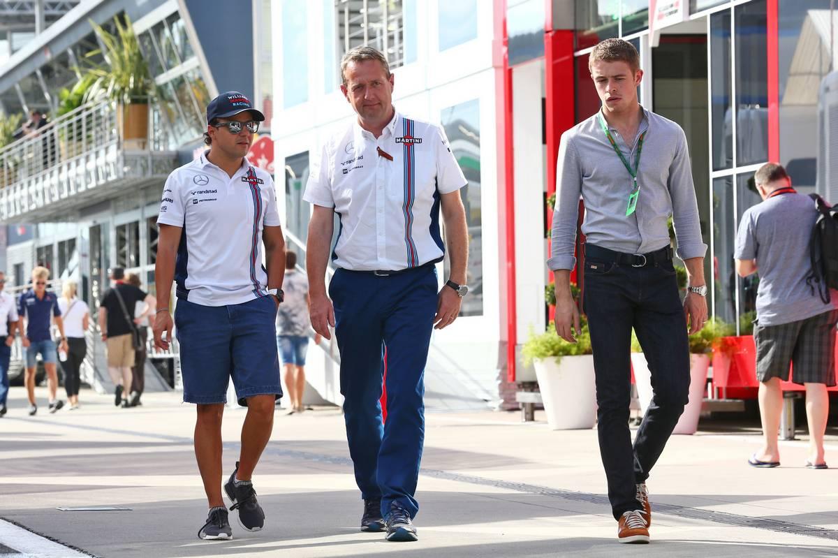 Felipe Massa, Steve Nielsen és Paul di Resta (Fotó: XPB)