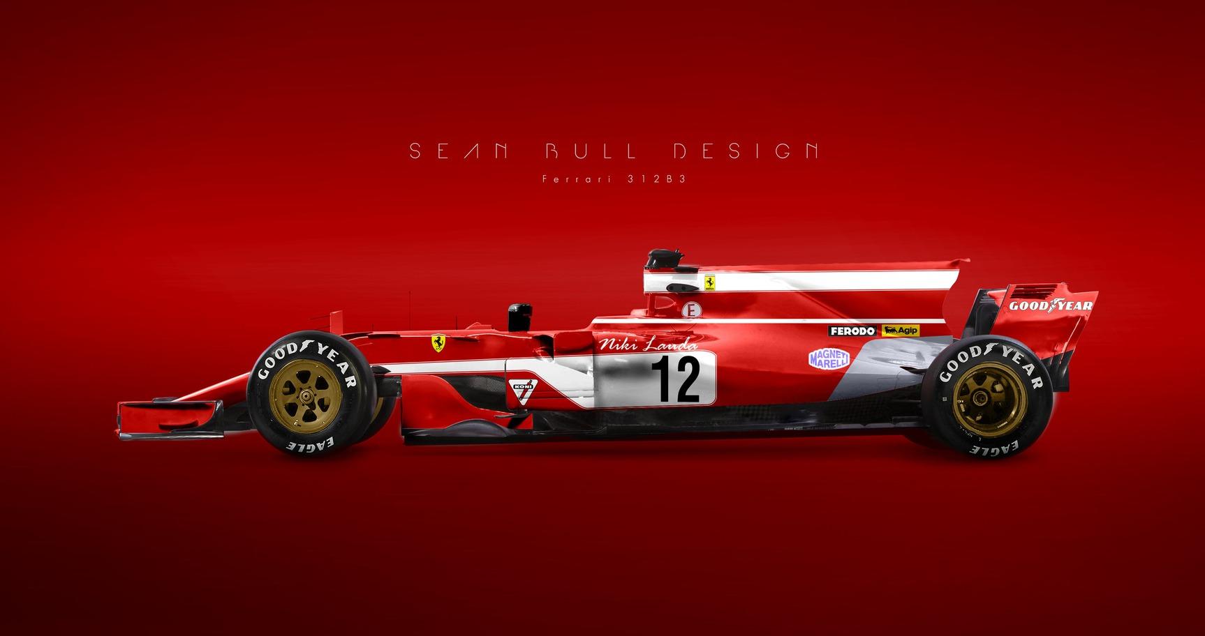 Minden F1-es Ferrari festése egyetlen autón - (Sean Bull)