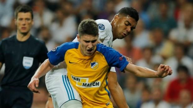 Sallai Rolandot (sárgában) több európai topcsapat is figyelni fogja a szerda esti BL-mérkőzésen (Fotó: MTI/AP/Paul White)