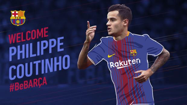 Coutinho 2018-tól már a Barcelona játékosa (forrás: FC Barcelona)