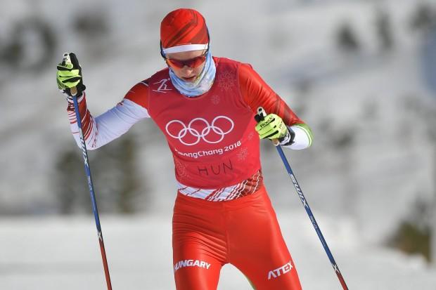 Kónya Ádám sífutó edz a phjongcshangi Alpensia Sífutó Központban 2018. február 7-én.  MTI Fotó: Czeglédi Zsolt