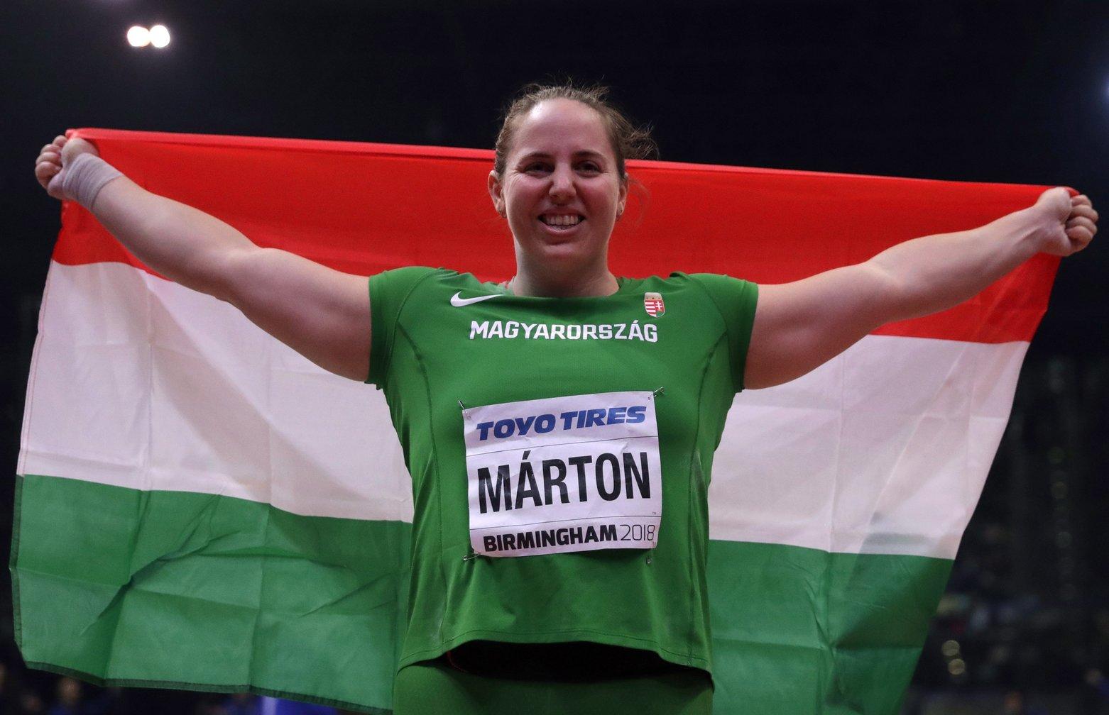 Márton Anita a magyar atlétika történetének első világbajnoka