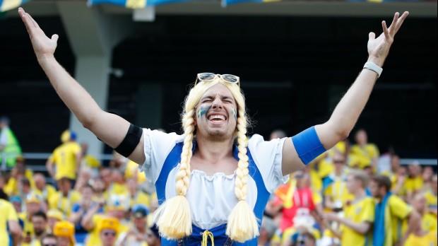 Svéd drukker a Dél-Korea elleni vb-meccsen (Fotó: EPA/Franck Robichon)
