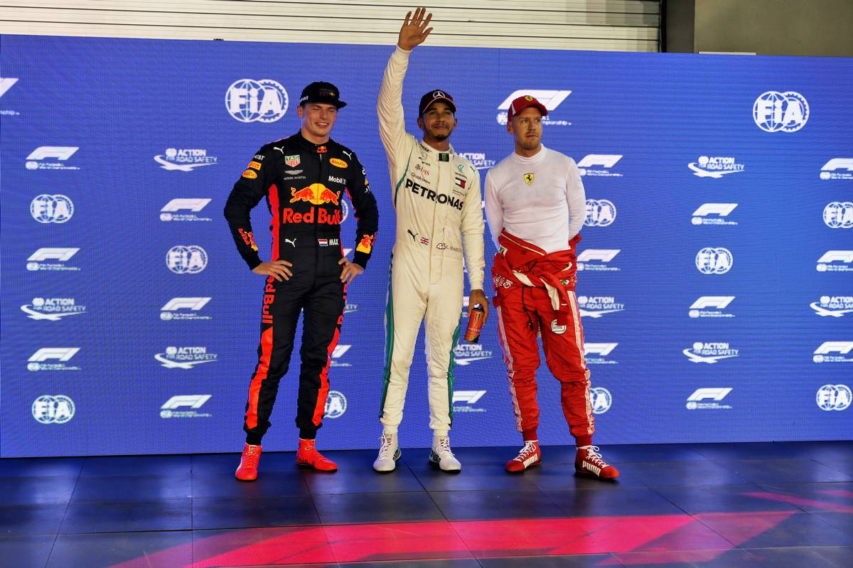 Max Verstappen, Lewis Hamilton és Sebastian Vettel (Fotó: XPB)