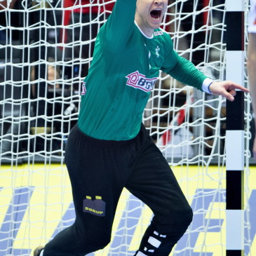 epa07325680 Goalkeeper Niklas Landin of Denmark during the men's IHF Handball World Championship gold medal match between Denmark and Norway in Herning, Denmark, 26 January 2019.  EPA/HENNING BAGGER DENMARK OUT