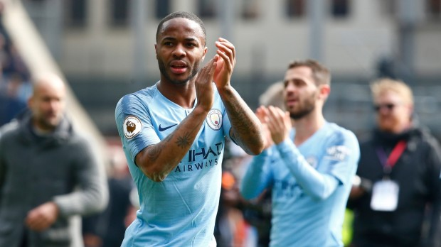 epa07506446 Manchester City's Raheem Sterling after the English Premier League soccer match between Crystal Palace and Manchester City FC at Selhurst Park stadium in London, Britain, 14 April 2019.  EPA/KIERAN GALVIN EDITORIAL USE ONLY. No use with unauthorized audio, video, data, fixture lists, club/league logos or 'live' services. Online in-match use limited to 120 images, no video emulation. No use in betting, games or single club/league/player publications.