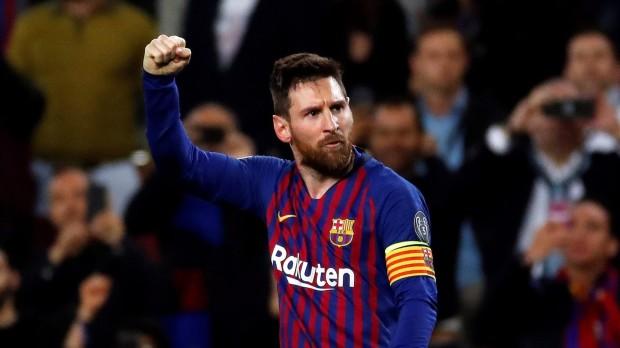 Lionel Messi gólöröme a Barcelona–Liverpool BL-elődöntőben 2019. május 1-jén (Fotó: EPA/Alberto Estevez)