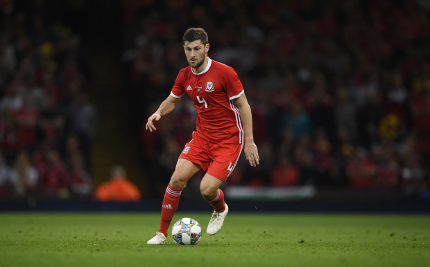 CARDIFF, WALES - OCTOBER 11: Wales player Ben Davies in action during the International Friendly match between Wales and Spain on October 11, 2018 in Cardiff, United Kingdom. (Photo by Stu Forster/Getty Images)