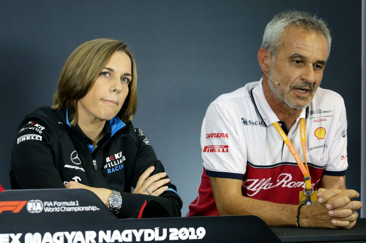 Claire Williams és Beat Zehnder (Fotó: XPB)