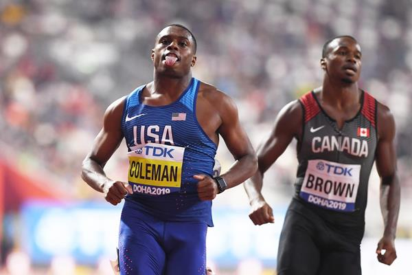 Christian Coleman (Forrás: worldathletics.org)